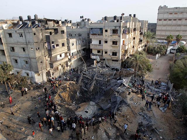 Los habitantes de la Franja de Gaza se ven obligados a cultivar 'sobre sus cabezas'